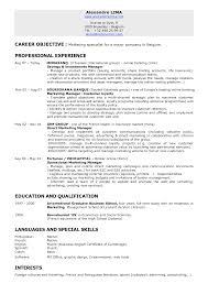 career objective marketing template career objective marketing