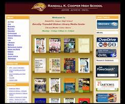 webpage creation analysis from gale customer care the randall k cooper high school utilizes galesites for their library website