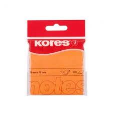 <b>Блок</b>-<b>кубик Kores</b> бум.для зам. 75х75 неоновая оранжевая 100л ...