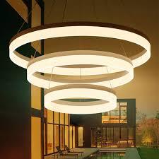 <b>Chandelier</b> 2019 <b>Modern Restaurant Lighting</b> Fixture 3 Ring Circle ...