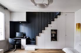 eclectic white and black style design of home office black and white home office