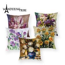 Retro Floral Cushions Cover <b>Nordic</b> Plant Decor Throw Covers ...