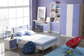 bedroom for girls:  charming bedroom design idea for tween girl and white frame bed decorated and blue square carpet
