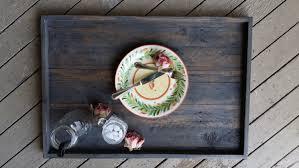 wooden tray ottoman home decor