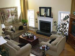 extraordinary family room decorating ideas with three grey fabric bridgewater sofas and small wooden centerpieces coffee chic family room decorating