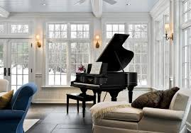 piano tree family room traditional with coffered ceiling blue ceiling arrange office piano room
