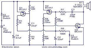 electronic siren circuit   electronic circuits and diagram    electronic siren circuit
