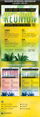 island school reunion flyer template reunions fonts and flyer island school reunion flyer template 6 00