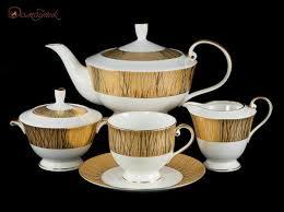"""<b>Чайный сервиз</b> на 6 персон """"<b>Золотой</b> бамбук"""" (17 предметов ..."""
