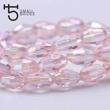 6*8mm <b>Austrian Faceted Waterdrop</b> Crystal Beads For Jewelry ...