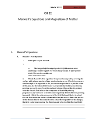 Worksheet       and       Coulomb     s Law and Electric Field on a CH    Maxwell     s Equations and Magnetism