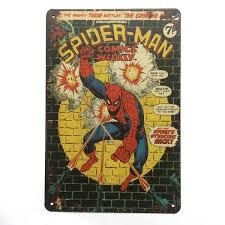 Spider Man Super <b>Hero Retro Vintage Metal Tin</b> Sign Poster For ...