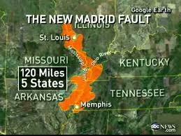 Image result for new madrid fault line