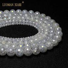 <b>Wholesale</b> AB color <b>Faceted</b> Quartzs White Crystal <b>Natural Stone</b> ...