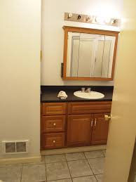 update bathroom mirror: this taylored house bathroom vanity makeover but the had boring oak that i really didnt care