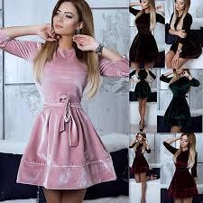 <b>Women Retro</b> Korean Velvet Dress <b>2017 Autumn</b> And Winter Casual ...