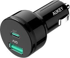 Автомобильная <b>зарядка Aukey</b> СС-Y7 Power Delivery 2.0 <b>USB</b>-C