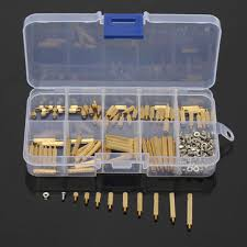 suleve™ m2bt1 <b>270pcs m2</b> male female knurled brass round thread ...