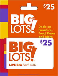 Big Lots! Gift Card $25: Gift Cards - Amazon.com