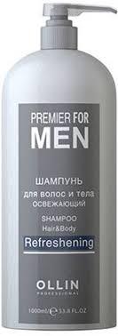 <b>Ollin Шампунь</b> для волос и тела <b>освежающий</b> Premier For Men ...