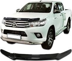 <b>Дефлектор капота CA</b> Plastic для <b>Toyota</b> Hilux 2015-н.в. (Черный ...