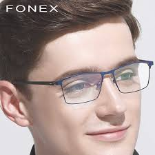 <b>TR90</b> Titanium Alloy Prescription <b>Glasses Men</b> Square <b>Myopia</b> ...