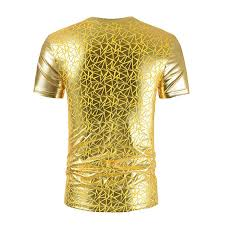 <b>Summer</b> new style <b>simple personality men's</b> Tyrant gold short sleeve ...