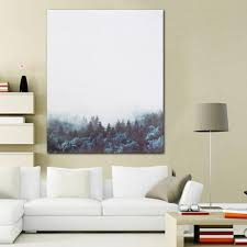 Shop Generic <b>Modern Nordic Minimalist</b> Forest Canvas Art Poster ...