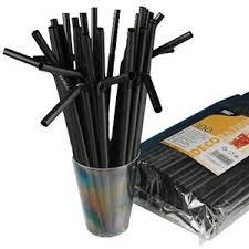 Декор для <b>коктейля</b> - <b>Трубочки</b> черные d=8 мм L 25 см 100 штук ...