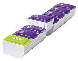 Detach N Go <b>7 Day</b> Detachable Pill Organizer with Pill <b>Cutter</b> ...