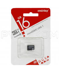 <b>Карта памяти Smart</b> Buy MicroSDHC 16 Gb без адаптера (Class ...