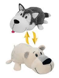 57% <b>1Toy Мягкая игрушка Вывернушка</b> Хаски-Полярный медведь