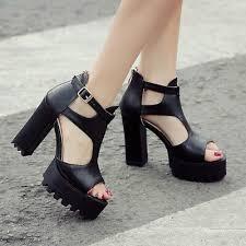 Womens <b>Summer</b> Open Toe High <b>Heels Roman</b> T strap <b>Platform</b> ...