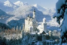 germany new swan castle snow white handmade resin refrigerator