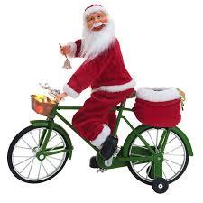Mr. Christmas Really Cycling <b>Santa Christmas Decoration</b> - Walmart ...
