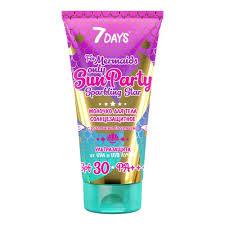 <b>Солнцезащитное молочко для</b> тела 7DAYS Sun Party Sparkling ...