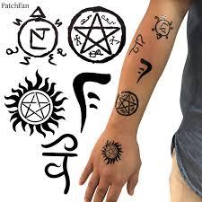 <b>2pcs</b>/<b>set Patchfan</b> Supernatural Temporary Body Art Tattoo Sticker ...