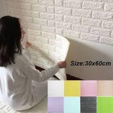 3D Brick Wallpaper Wall Background Stickers Self-Adhesive ... - Vova