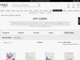 Marks & Spencer   Gift Card Balance Check   Balance Enquiry, Links ...