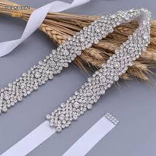 <b>TOPQUEEN S28B Luxury</b> Rhinestone Wedding Dress Belts Bridal ...