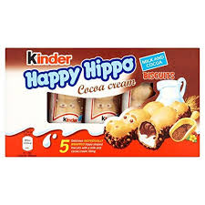 "Kinder ""<b>Happy</b> Hippo"" Cocoa Cream Biscuits : <b>Pack</b> of <b>5</b> Biscuits ..."