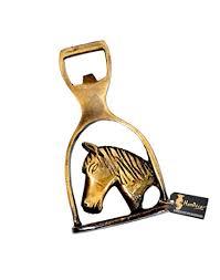 Buy Two Moustaches Brass <b>Horse Design Bottle Opener</b> Online at ...
