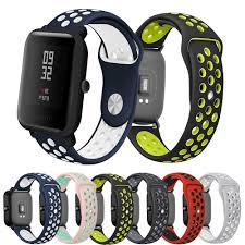 <b>20mm Watchband</b> for Amazfit Bip Strap <b>Soft Silicone</b> Accessories ...