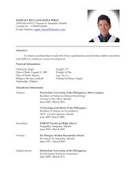 High School Student Resume Samples With No Work Experience   Resume   resume examples for college happytom co