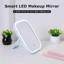 <b>Makeup</b> Mirror <b>LED</b> Touch Screen Table Desktop <b>Portable LED</b> ...
