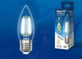 <b>LED</b>-<b>C35</b>-<b>9W</b>/<b>4000K</b>/<b>E27</b>/<b>CL</b>/<b>DIM</b> GLA01TR <b>Лампа</b> светодиодная ...