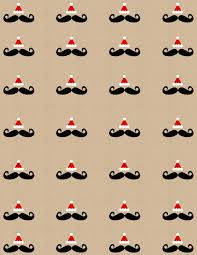 design lookout by lg design studio bie diy printable mustache santa holiday wrapping paper gift tags