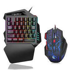 HXSJ J50 Ergonomic <b>Keyboard</b> And Mouse Combo Colorful ...