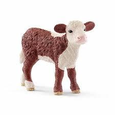 <b>Фигурка</b> - Герефордский <b>теленок</b> от Schleich, 13868k - купить в ...