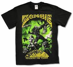 <b>Rob Zombie Venomous</b> Rat Black T Shirt New Band Music White ...